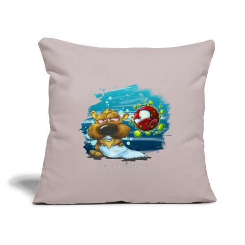 """the tragic of life - Throw Pillow Cover 17.5"""" x 17.5"""""""