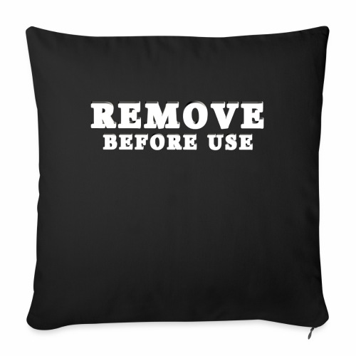"""Remove Before Use for dark - Throw Pillow Cover 17.5"""" x 17.5"""""""