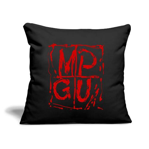 "MPGU RED STROKE - Throw Pillow Cover 18"" x 18"""