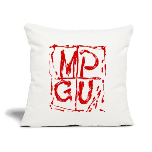 """MPGU RED STROKE - Throw Pillow Cover 18"""" x 18"""""""