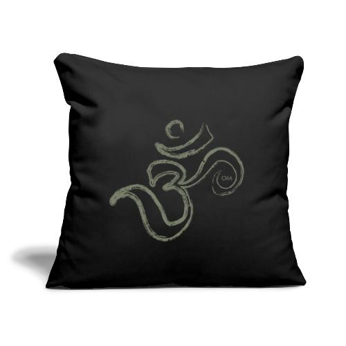 "Om Brush - Throw Pillow Cover 17.5"" x 17.5"""