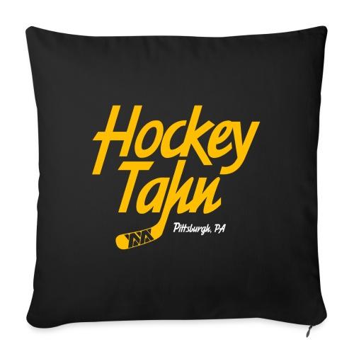 "Hockey Tahn - Throw Pillow Cover 17.5"" x 17.5"""