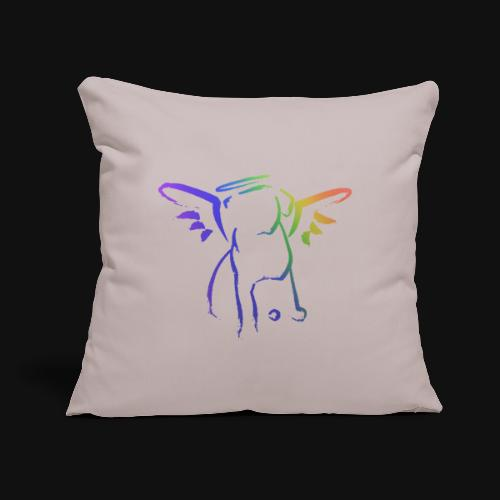 "Angel Pup - Throw Pillow Cover 17.5"" x 17.5"""