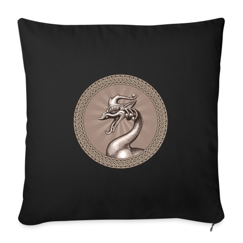 "Laughing Dragon - Throw Pillow Cover 17.5"" x 17.5"""