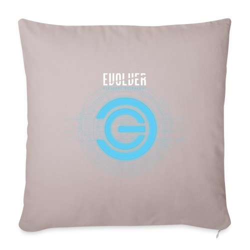 "Evolver Artwork - Throw Pillow Cover 17.5"" x 17.5"""