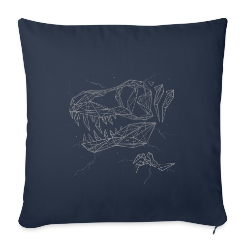 """Jurassic Polygons by Beanie Draws - Throw Pillow Cover 17.5"""" x 17.5"""""""