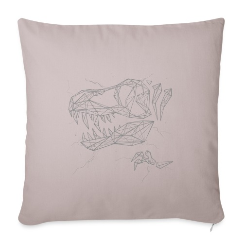"Jurassic Polygons by Beanie Draws - Throw Pillow Cover 17.5"" x 17.5"""