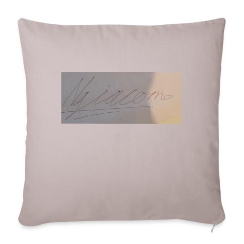 "signature - Throw Pillow Cover 17.5"" x 17.5"""