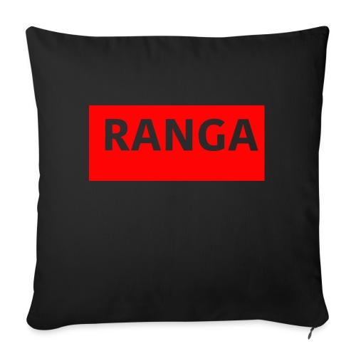 "Ranga Red BAr - Throw Pillow Cover 18"" x 18"""