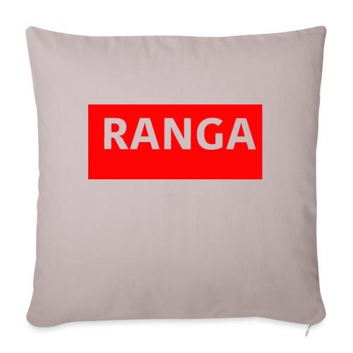 "Ranga Red BAr - Throw Pillow Cover 17.5"" x 17.5"""