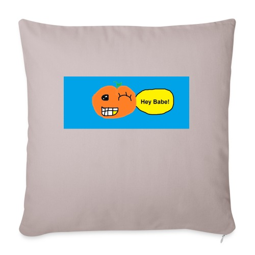"peachy smile - Throw Pillow Cover 17.5"" x 17.5"""