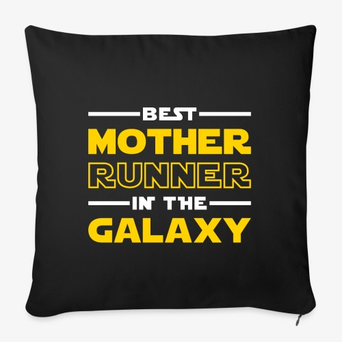 """Best Mother Runner In The Galaxy - Throw Pillow Cover 18"""" x 18"""""""