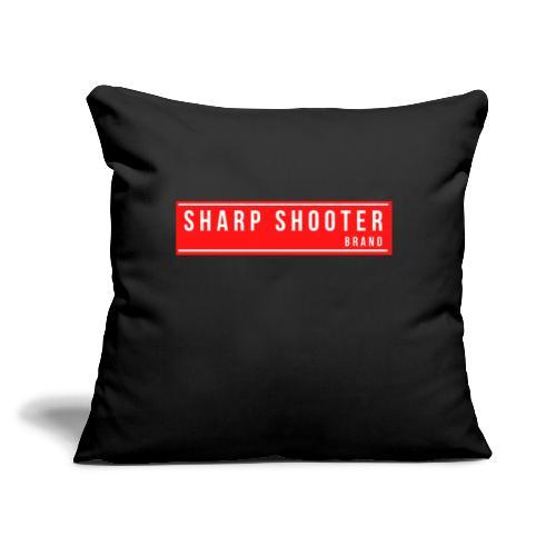 "SHARP SHOOTER BRAND 1 - Throw Pillow Cover 17.5"" x 17.5"""