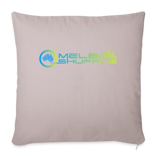 "Melbshuffle Gradient Logo - Throw Pillow Cover 17.5"" x 17.5"""