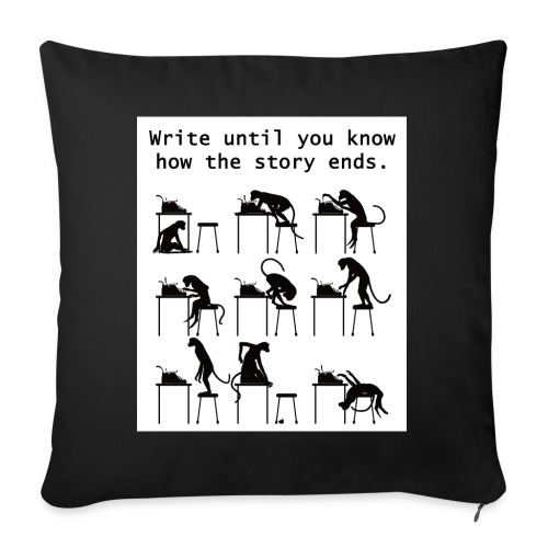 """Writer's Advice - Part 2 - Throw Pillow Cover 17.5"""" x 17.5"""""""