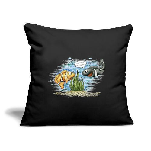 "when clownfishes meet - Throw Pillow Cover 18"" x 18"""
