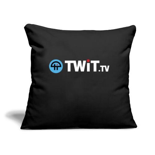 """TWiTtv White Logo - Throw Pillow Cover 17.5"""" x 17.5"""""""