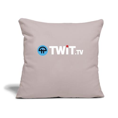 "TWiTtv White Logo - Throw Pillow Cover 17.5"" x 17.5"""