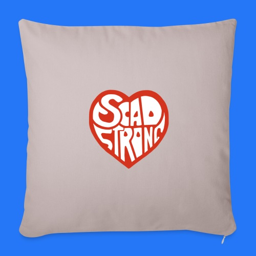 "SCAD heart - Throw Pillow Cover 17.5"" x 17.5"""