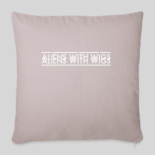 """AliensWithWigs-Logo-Blanc - Throw Pillow Cover 17.5"""" x 17.5"""""""