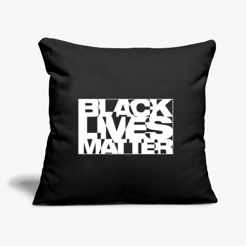 """Black Live Matter Chaotic Typography - Throw Pillow Cover 17.5"""" x 17.5"""""""