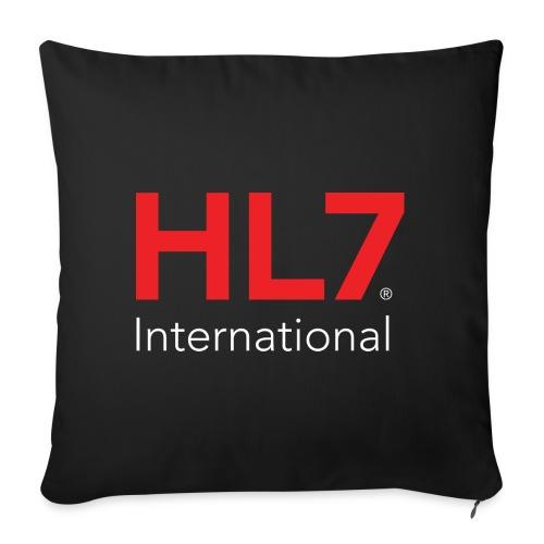 "HL7 International Logo - Reverse - Throw Pillow Cover 17.5"" x 17.5"""