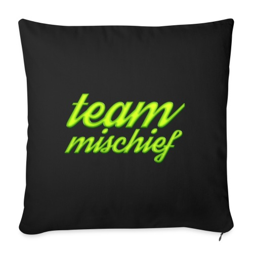 "Team Mischief - Throw Pillow Cover 17.5"" x 17.5"""