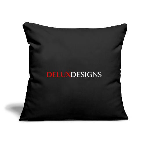 "Delux Designs (white) - Throw Pillow Cover 17.5"" x 17.5"""