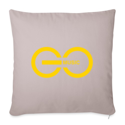 "GOMusic logo - Throw Pillow Cover 17.5"" x 17.5"""
