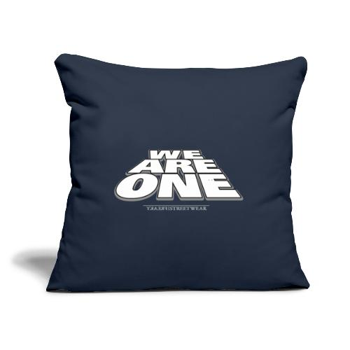 "We are One 2 - Throw Pillow Cover 18"" x 18"""