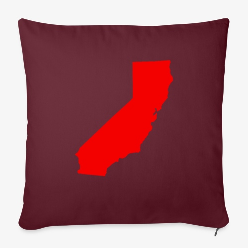 "Flip Cali Red - Throw Pillow Cover 17.5"" x 17.5"""