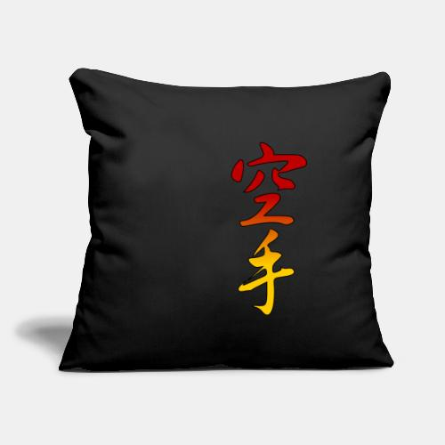 "Karate Kanji Red Yellow Gradient - Throw Pillow Cover 18"" x 18"""