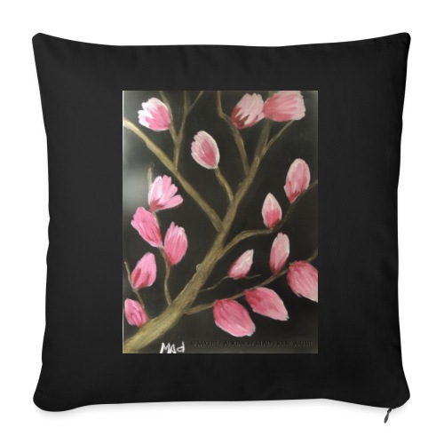 """Magnolia Buds Early Spring - Throw Pillow Cover 17.5"""" x 17.5"""""""