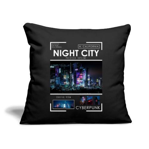 "Night City Pacifica Skyline - Throw Pillow Cover 17.5"" x 17.5"""
