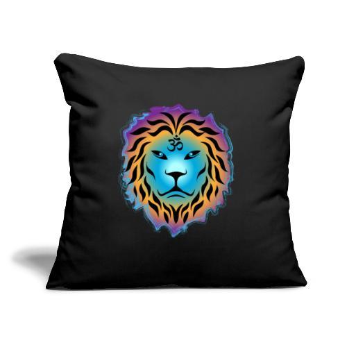"""Zen Lion - Throw Pillow Cover 17.5"""" x 17.5"""""""