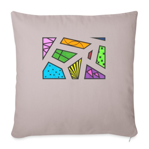 "geometric artwork 1 - Throw Pillow Cover 18"" x 18"""