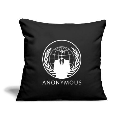 "Anonymous 1 - White - Throw Pillow Cover 17.5"" x 17.5"""