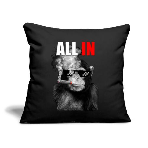 """Ape All In - Throw Pillow Cover 17.5"""" x 17.5"""""""