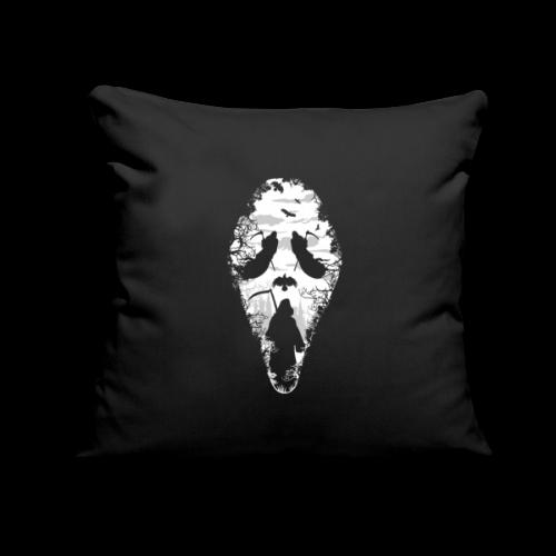 "Reaper Screams | Scary Halloween - Throw Pillow Cover 18"" x 18"""