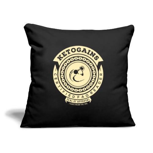 """Ketogains FAQ - Throw Pillow Cover 17.5"""" x 17.5"""""""