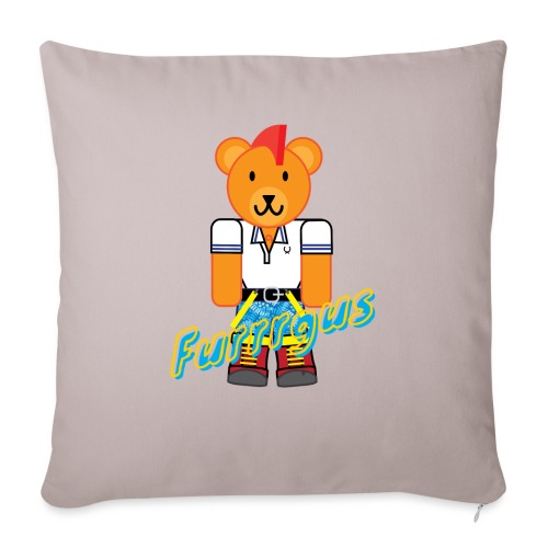 "Skinhead Furrrgus - Throw Pillow Cover 17.5"" x 17.5"""