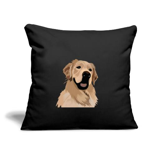"""Hand illustrated golden retriever print / goldie - Throw Pillow Cover 17.5"""" x 17.5"""""""
