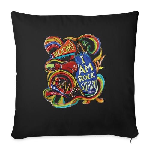 "RSB Boom Bam Comic Style Logo - Throw Pillow Cover 17.5"" x 17.5"""