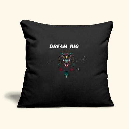 "DREAM BIG OWL - Throw Pillow Cover 17.5"" x 17.5"""