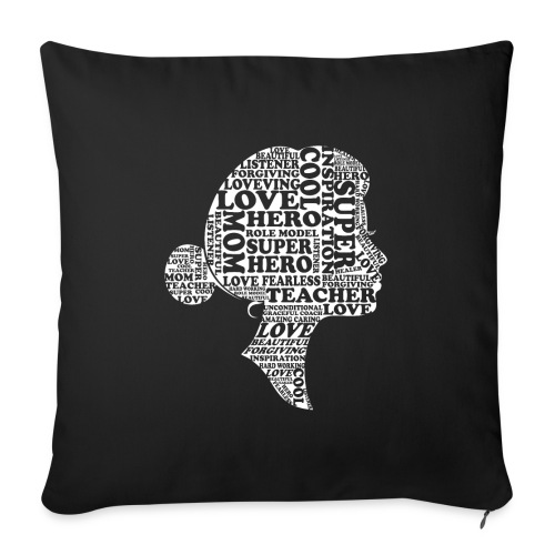 "Mother Definition, Teacher Mom, Great Teacher Mom - Throw Pillow Cover 18"" x 18"""