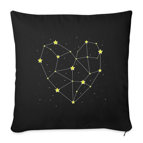 "Heart in the Stars - Throw Pillow Cover 18"" x 18"""