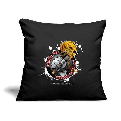 "bring the enlightment - Throw Pillow Cover 17.5"" x 17.5"""