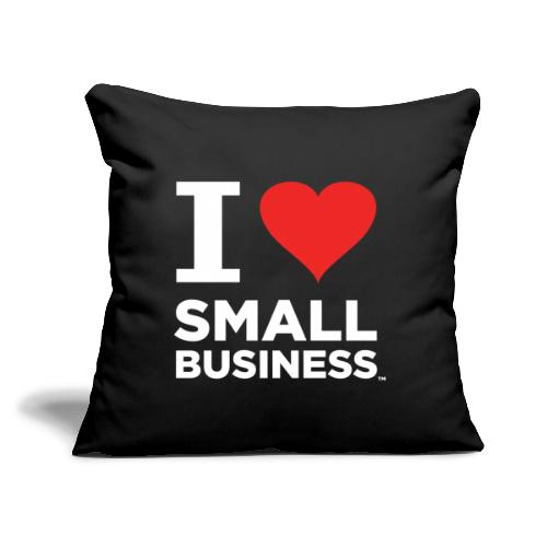 """I Heart Small Business Logo (Red & White) - Throw Pillow Cover 17.5"""" x 17.5"""""""
