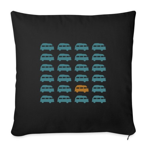 "Hippie Bus || Travel In A Kombi || Van Life - Throw Pillow Cover 17.5"" x 17.5"""