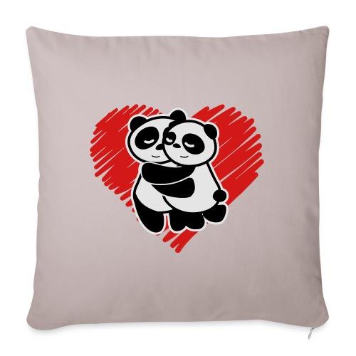 "Panda Love - Throw Pillow Cover 17.5"" x 17.5"""
